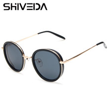 SHIVEDA Vintage Round Sunglasses For Women Tinted Mirrored Lenses Steampunk Glasses General Population Classic Eyewear A26003