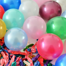 "Wholesale 100pcs 10"" 1.5g Colorful Pearl Latex Balloon Children Wedding Birthday Decor Marry Balloon"