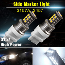 CYAN SOIL BAY 2X White 3157 3156 T25 15W 15 SMD High Power LED Rear Turn Parking Light 3157A 3057 Brake Bulb Lamp