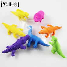 2 pcs/lot JWHCJ Creative crocodile dinosaur shape eraser stationery office school correction supplies papelaria child's toy gift