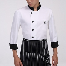 Newly Long Sleeved Autumn Hotel Chef Uniform Chef Jackets Western Restaurant Uniforms Food Service Work Wear