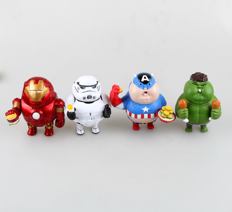 Fat Fat series Iron Man Avengers Hulk hand to do PVC Action Figure Collection Model Toy<br><br>Aliexpress