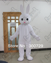 export high quality NO.4318 slim white rabbit mascot costumes character bunny costumes(China)