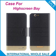 5 Colors Hot! Highscreen Bay Case New Fashion Business Magnetic clasp Ultrathin Flip Leather Case For Highscreen Bay