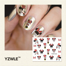 YZWLE 2017 New Hot Sale Water Transfer Nails Art Sticker Manicure Decor Tool Cover Nail Wrap Decal (YZW122)(China)