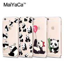 Buy MaiYaCa Cute Animal Panda Soft TPU silicone Phone Case Cover Fundas iPhone 4s 5 5s 6 6s 7 plus 6plus 7plus 6splus case for $1.41 in AliExpress store
