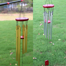 Amazing Large antirust copper 6 Tubes Wind chime Chapel Bells outdoor decorations birthday gifts to friends and best wishes