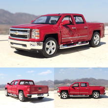 High simulation 1:46 Chevrolet Pickup Truck Diecast Alloy Car Models Metal With Pull Back Car Toy For Kids Gifts Free Shipping(China)