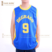 2016 New Degrassi Basketball Jersey Number 9 Color Blue No Name Good Quality Basketball Jersey For Free Shipping