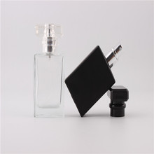 New Kind 30ml Clear and Black Refill Glass Spray Refillable Perfume Bottles Glass Automizer Empty Cosmetic Container For Travel(China)