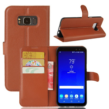 S8Active Case for Samsung S8 Active G892A Cases Wallet Card Stent Lichee Pattern Flip Leather Cover black G 892 G892 Samsung892(China)