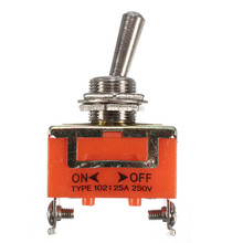 Wholesale EP98 2-Pin Terminal ON-OFF Toggle Switch Control 15A 250V Car Truck Boat SPST Electrical Equipment(China)