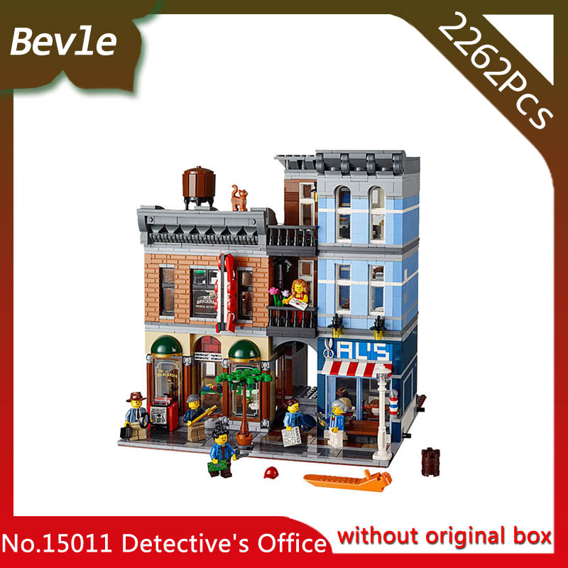 Bevle Store LEPIN 15011 2082Pcs street View series Detective firm Model Building  Blocks set Bricks For Children Toys 10246<br>