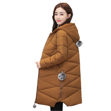 Ukraine 2017 Plus size Hooded Winter Women Down Cotton Coat Parkas Thick Warm Female Jacket Quality Fashion Femme Outer wear W09(China)