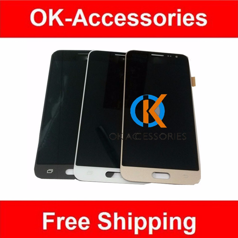 High Quality For Galaxy J3 J3109 J320 LCD Display+Touch Screen Digitizer only White Color 1PC /Lot<br>