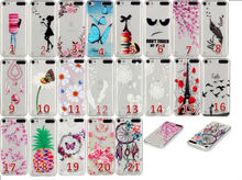 Flower Butterfly Dreamcatcher Soft TPU Silicone Case For Ipod Touch 6 5 For LG K7/M1,K10/M2 Dandelion Eiffel Tower Skin 200PCS
