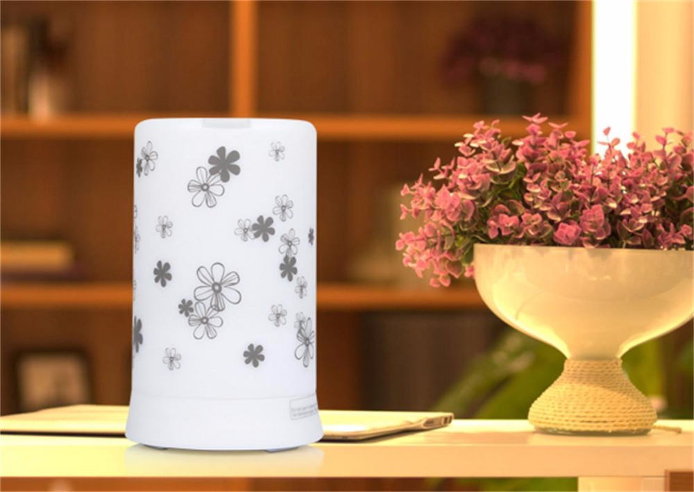 LAGUTE Haze LG-H03 100ML Ultrasonic Air Humidifier Moisture Aromatherapy  Aroma Essential Oils Diffuser 4 colors LED Lights <br>
