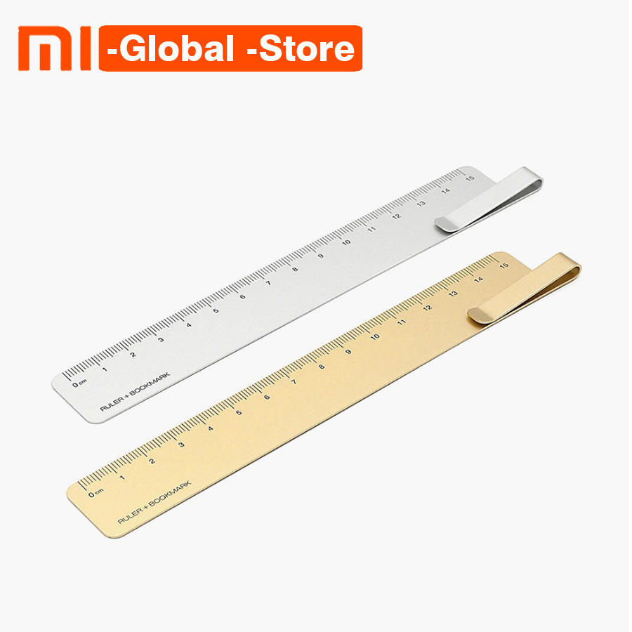 Xiaomi RUMA Bookmark Measuring Tool 15cm Stainless Steel Metal Straight Ruler Of