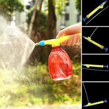 1Pcs Plastic Bottles Interface Plastic Head Water Pressure Trolley Gun Sprayer Garden Accessories