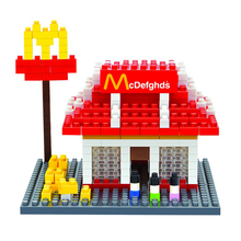 Hot Sale!!! Weagle architecture mini blocks, Fast food store MD, Wisehawk blocks,model,DIY building nano bricks, children gifts