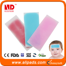 Free shipping natural herbal fruity baby safety cooling bandage reducing fever patch cool gel patch /sheet(100 pcs/lot)