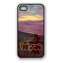Malloom 2017 Top quality Good Vibes Hipster Quote Snap On Hard Case Cover For iPhone 5 5G 5S Cell phone cases #LYMA17