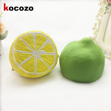 2017 New 11CM Jumbo Squishy lemon Kawaii Squishy Cute fruit Slow Rising Decoration Phone Strap Pendant Squishes Gift toys doll