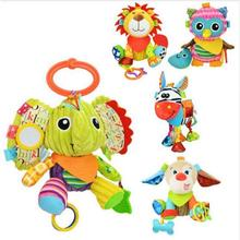 Sozzy Brand 2017 Hot Sale Stuffed animal toys Baby Toys Infants And Dolls With Teether Juguetes Bebe Brinquedos As Birthday Gift(China)