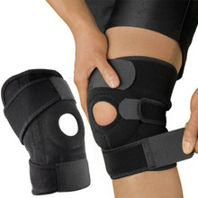 Mayitr 1pc Black Elastic Knee Brace Adjustable Knee Straps Support Safety Guard For Sports Running(China)