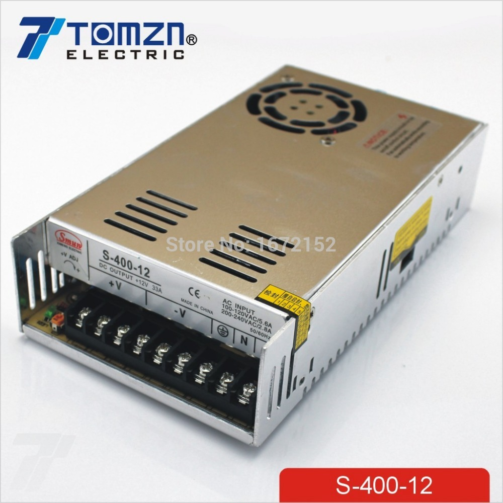 400W 12V 33A Single Output Switching power supply for LED SMPS AC to DC<br>