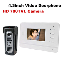 HD 4.3inch color video doorphone with 700tvl outdoor camera