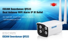 Escam 720P 1.0M Waterproof Outdoor WiFi Wireless Home Security IP Alarm Camera Baby Monitor LINKAGE ALARM SYSTEM With 2 Antenna