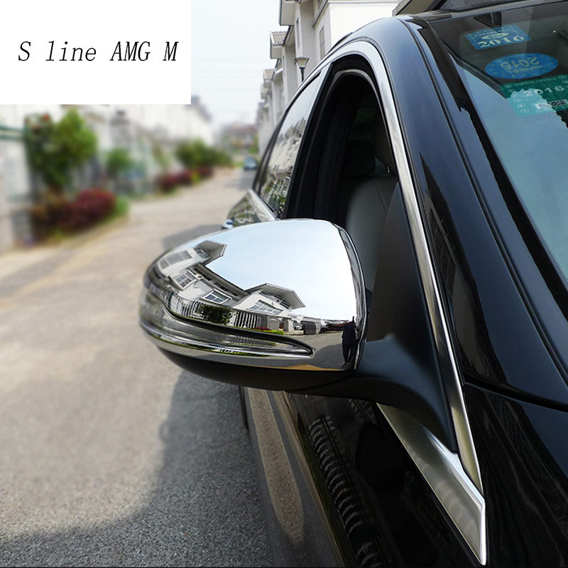 ABS Side Rearview Mirror Trim Cover 2pcs For Benz S Class W222  2014-2019
