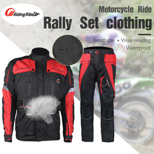 Riding Tribe Winter Motorcycle Racing Protect Jacket Pants Suits Motorcycle Full Body Protective Gear Windproof Waterproof Rally