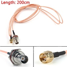 Sale 200cm RG316 Cable BNC Female Bulkhead Jack To SMA Male Plug Straight Pigtail 6ft High Quality Mini Jackplug Wire Connector