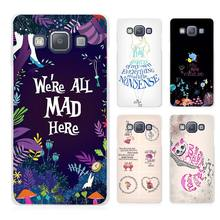 Alice in Wonderland Anime Clear Transparent Cell Phone Case Cover for Samsung Galaxy A3 A5 A7 A8 A9 2016 2017