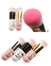 Round Makeup Brush BB Cream Foundation Cute Hello Kitty Face Powder Brushes Face Cosmetic Blush Brush Make Up Beauty Tool(China)