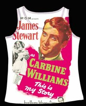 Track Ship+Vintage Vest Tanks Tank Tops Camis Yes Famous Actor James Stewart Carbine Williams Story(Hong Kong,China)
