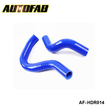 AUTOFAB - Racing Silicone turbo intercooler Radiator hose kit For Honda Civic EP3 K20A Type-R 01-06 (2pcs) AF-HDR014