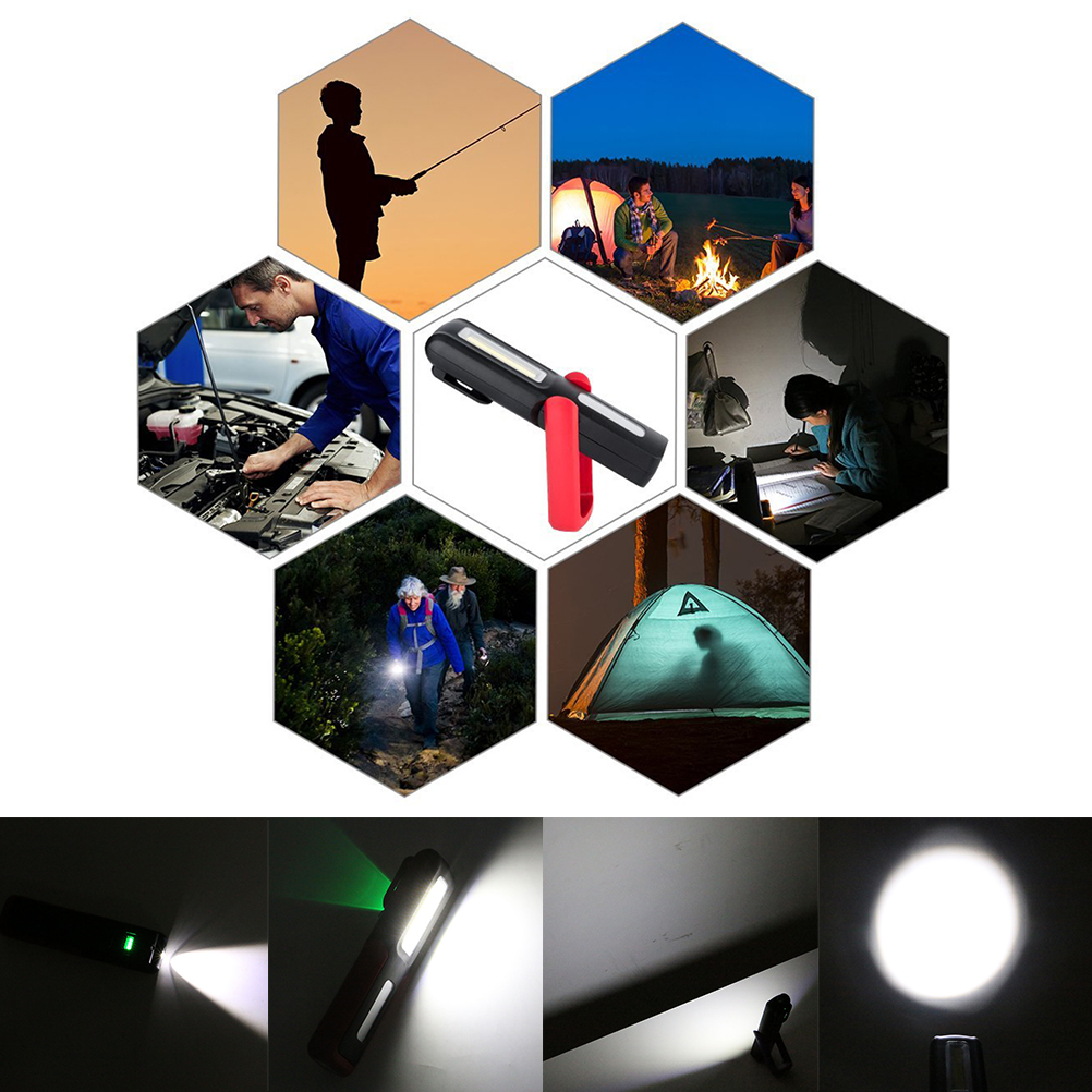 COB LED+XPE LED Flashlight Handy Lamp Portable Rechargeable Work Camping Light Energy Saving Lamp With Magnet Hook 155*40*20cm