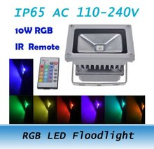 10W RGB Remote Control LED Flood Light Outdoor Wall Washer Lamp Waterproof 110-240V 12PCS