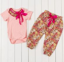 2015  Baby Fall Autumn Outfit,Baby Girl Romper,girls floral romper,one pieces and leggings for girls
