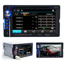 "Double 2 Din 6.2"" In Dash Stereo Car DVD CD Player Bluetooth Radio"