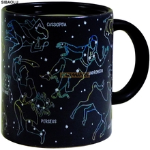 96PCS Fantastic Constellation Mug Star Sign Magic Mug Cup Change Color Tea Coffee Water Cup Cool Heat Changing Color Ceramic Cup