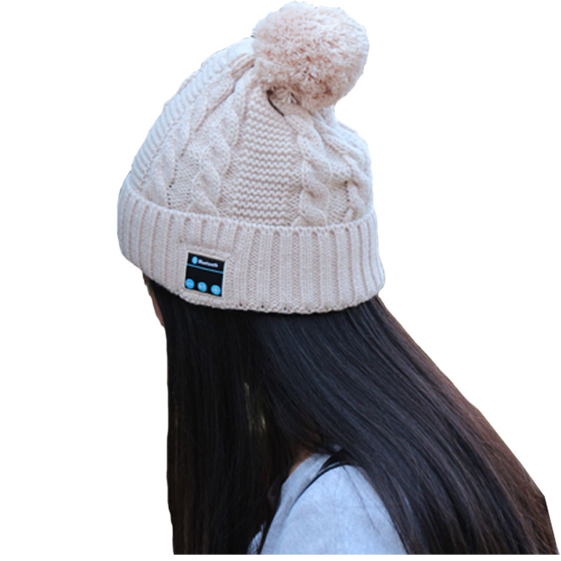 Bluetooth Soft Warm Beanie Hat Cap Smart Wireless Headset  Headset Microphone Speaker Hats Unisex Sport GiftsОдежда и ак�е��уары<br><br><br>Aliexpress