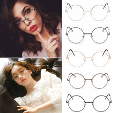 2017 Unisex Vintage Round Reading Glasses Metal Frame Retro Personality College Style Eyeglass Clear Lens Eye Glasses Men Women