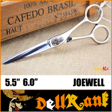 "Japan Original ""JOEWELL"" Scissors 6 Professional Barber Hairdressing Salon Scissors 440C High Quality Hair Cutting Shears J-1(China)"