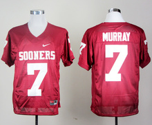 NIKE Oklahoma Sooners DeMarco Murray 7 College Ice Hockey Jerseys - Red Size S M L XL 2XL 3XL(China)