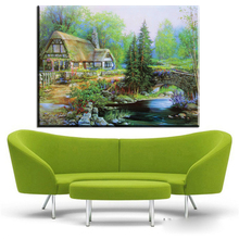 ZZ446 modern canvas art  thomas kinkade oil art paintings on canvas landscape canvas pictures for livingroom bedroom decoration