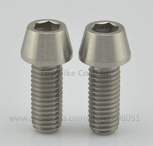 2pcs M8 x 20mm Taper head Grade 5 Titanium / Ti Bolt Bike Screw Bike Accessories(China)